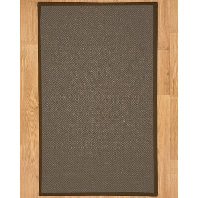 Handmade Brown Area Rug Rug Size: Rectangle 4 x 6