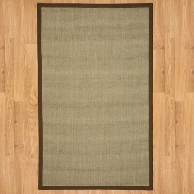 Hand-Woven Tan Area Rug Rug Size: Rectangle 8 x 10