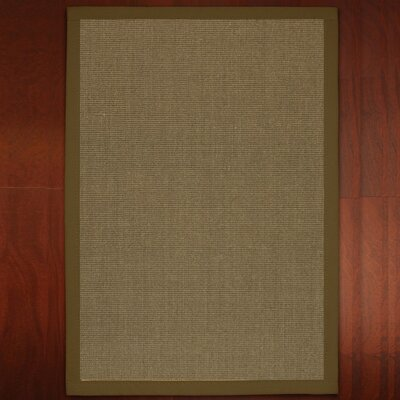 Hand-Woven Brown Area Rug Rug Size: Rectangle 3 x 5