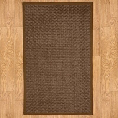 Hand-Woven Brown Area Rug Rug Size: Rectangle 6 x 9