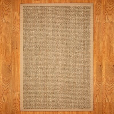 Alland Plaid Hand-Woven Khaki Area Rug Rug Size: Rectangle 4 x 6