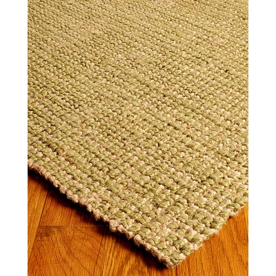 Hand-Woven Tan/Green Area Rug Rug Size: Rectangle 9 x 12