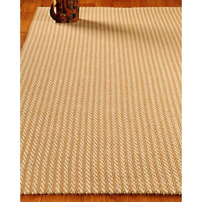 Hand-Woven Tan Area Rug Rug Size: Rectangle 4 x 6