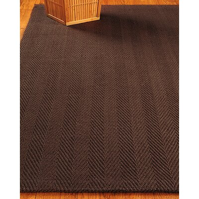 Hand-Woven Chocolate Area Rug Rug Size: Rectangle 6 x 9