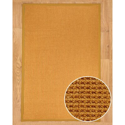 Hand-Woven Brown Area Rug Rug Size: Rectangle 5 x 8