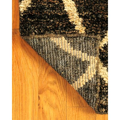 Hand-Woven Black/Gold Area Rug Rug Size: Rectangle 8 x 10