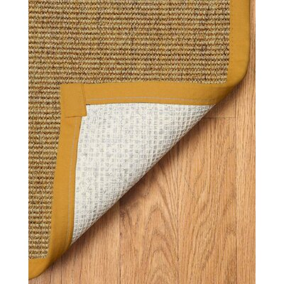Hand-Woven Tan Carmel Area Rug Rug Size: Rectangle 6 x 9