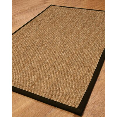 Hand-Woven Tan Area Rug Rug Size: Rectangle 9 x 12