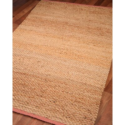 Hand-Woven Tan Area Rug Rug Size: Rectangle 5 x 8