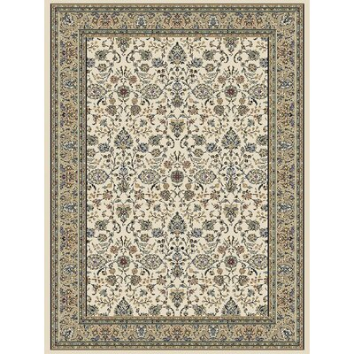 Ivory Area Rug Rug Size: 53 x 77