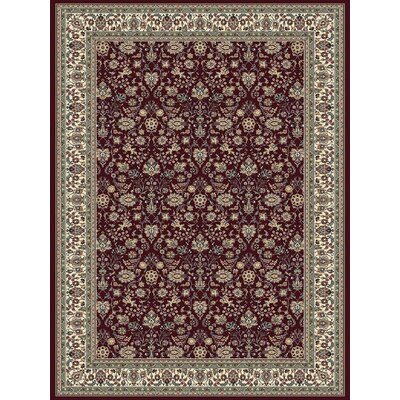 Red Area Rug Rug Size: 92 x 126