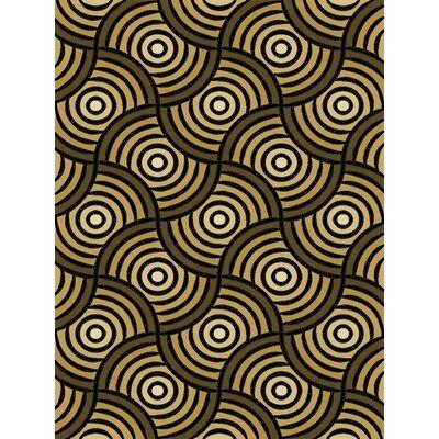 Black/Brown Area Rug Rug Size: 5'3