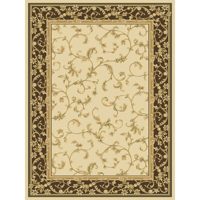 Wheat/Brown Area Rug Rug Size: 7'10