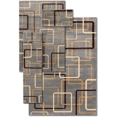 Hand-Woven Blue Area Rug Rug Size: Set of 4