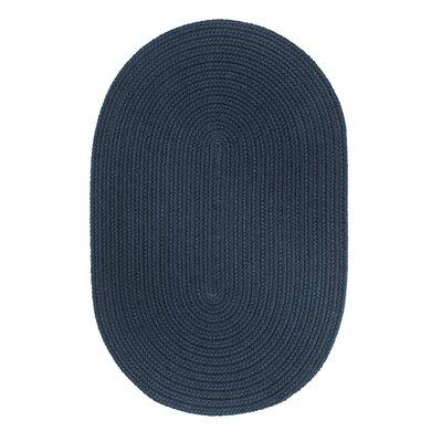 Handmade Navy Indoor/Outdoor Area Rug Rug Size: Runner 2 x 8