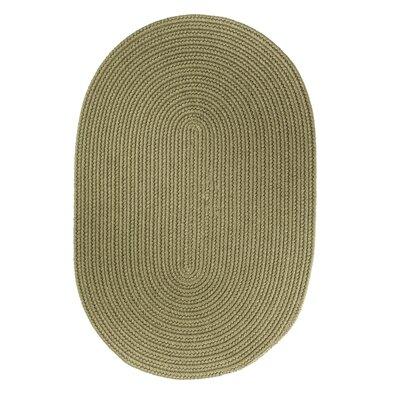Handmade Moss Green Area Rug Rug Size: 2 x 3