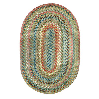 Handmade Peridot Indoor/Outdoor Area Rug Rug Size: Oval 2' x 3'