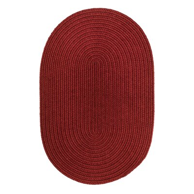 Handmade Barn Red Area Rug Rug Size: Oval  2 x 3