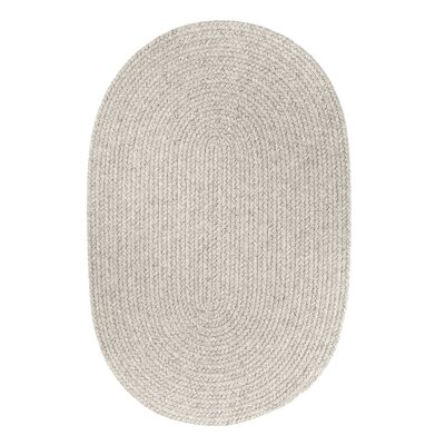 Handmade Light Gray Area Rug Rug Size: Oval  2 x 3