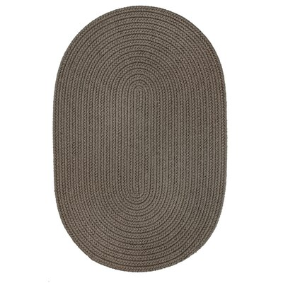 Handmade Gray Indoor/Outdoor Area Rug Rug Size: Round 4
