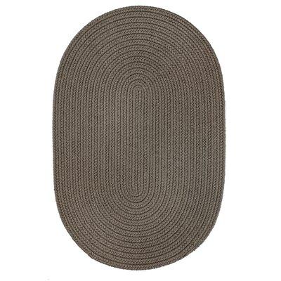Handmade Gray Indoor/Outdoor Area Rug Rug Size: Round 4