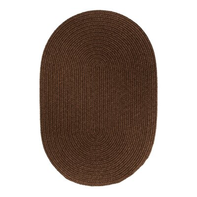 Handmade Brown Area Rug Rug Size: Oval 5 x 8