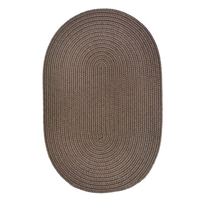 Handmade Dark Taupe Indoor/Outdoor Area Rug Rug Size: Oval 2 x 3