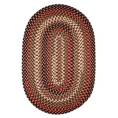 Handmade Brown Indoor/Outdoor Area Rug Rug Size: Oval 2' x 4'