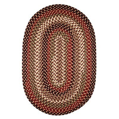 Handmade Brown Indoor/Outdoor Area Rug Rug Size: Oval 7 x 9