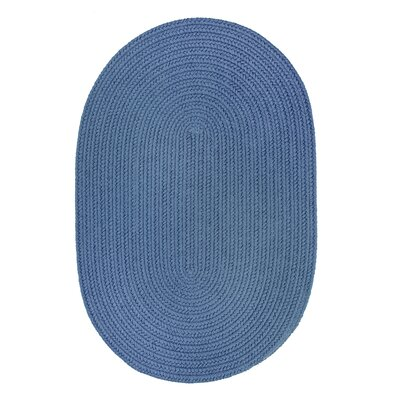 Handmade Marina Blue Indoor/Outdoor Area Rug Rug Size: Oval 2 x 4
