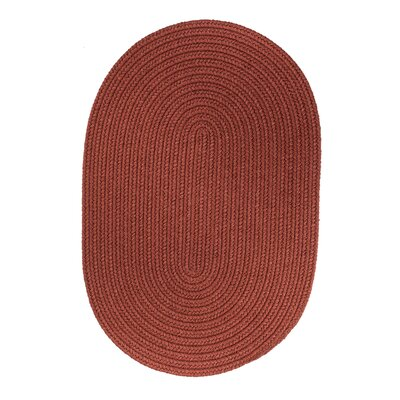 Handmade Terra Cotta Indoor/Outdoor Area Rug Rug Size: Oval 3 x 5