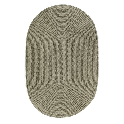 Handmade Moss Green Indoor/Outdoor Area Rug Rug Size: Oval  7 x 9