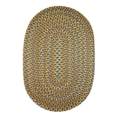 Handmade Dark Taupe Indoor/Outdoor Area Rug Rug Size: Oval 4 x 6