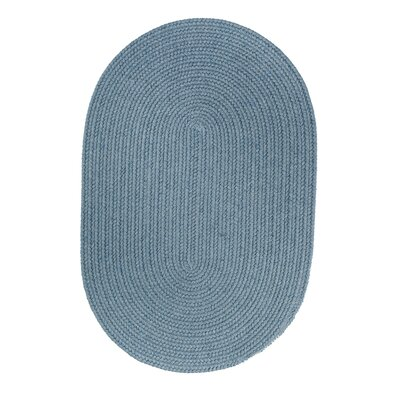 Handmade Blue Area Rug Rug Size: Oval  3 x 5