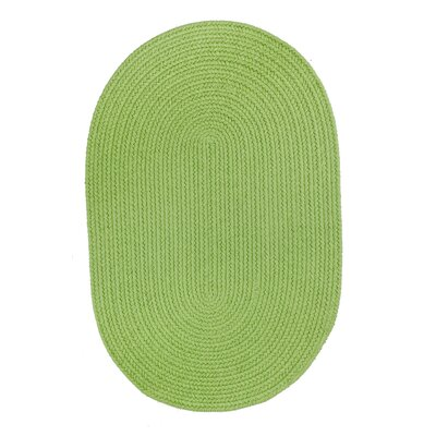 Handmade Lime Indoor/Outdoor Area Rug Rug Size: Oval 2 x 4