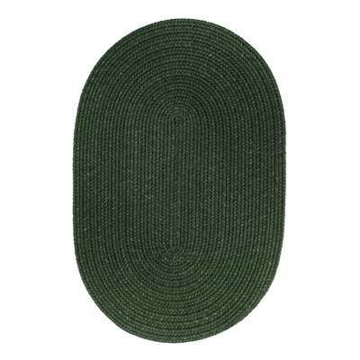 Handmade Hunter Green Area Rug Rug Size: Oval  3 x 5