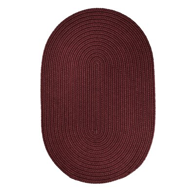 Handmade Burgundy Indoor/Outdoor Area Rug Rug Size: Oval 8 x 11