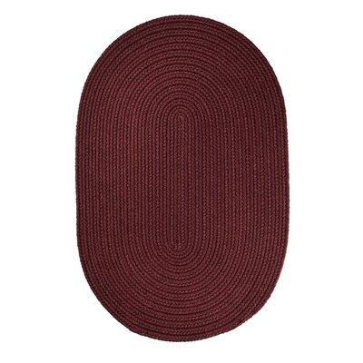 Handmade Burgundy Indoor/Outdoor Area Rug Rug Size: 8 x 11