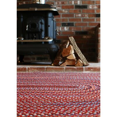 Handmade Red Area Rug Rug Size: Oval 7 x 9