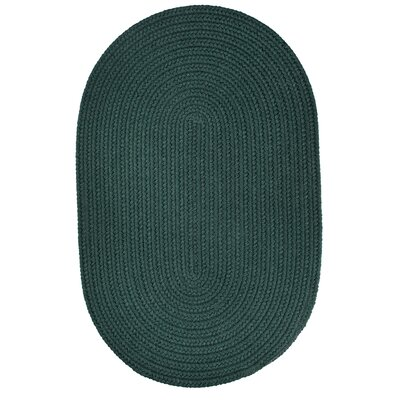 Handmade Spruce Green Indoor/Outdoor Area Rug Rug Size: Oval 2 x 3