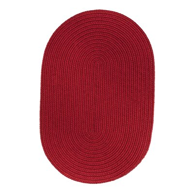 Handmade Brilliant Red Indoor/Outdoor Area Rug Rug Size: Oval 3 x 5