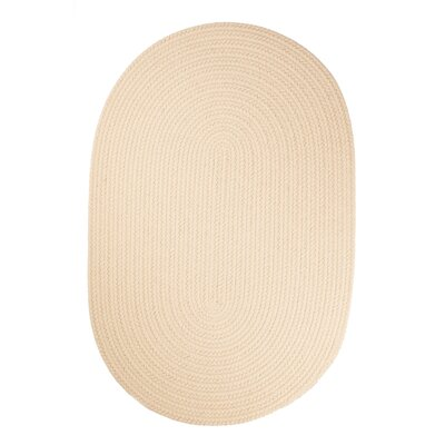 Handmade Cream Indoor/Outdoor Area Rug Rug Size: Oval 4' x 6'