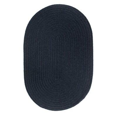 Handmade Navy Area Rug Rug Size: Oval  2 x 3