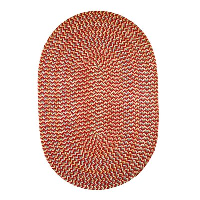 Handmade Red Indoor/Outdoor Area Rug Rug Size: Oval 5 x 8