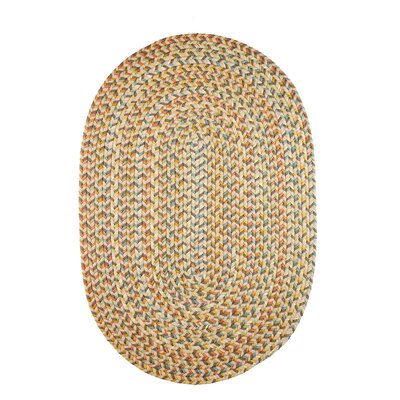 Handmade Beige Indoor/Outdoor Area Rug Rug Size: Oval 2 x 3