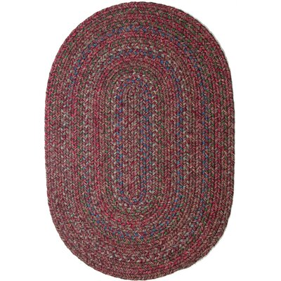 Burgundy/Red Indoor/Outdoor Area Rug Rug Size: Oval 2 x 3