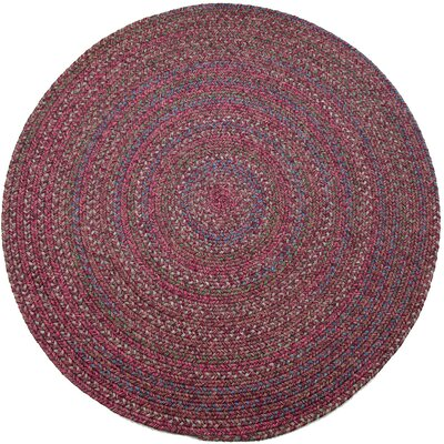Burgundy/Red Indoor/Outdoor Area Rug Rug Size: Round 4