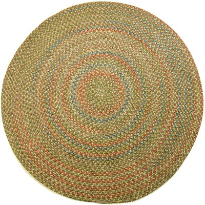 Camel Indoor/Outdoor Area Rug Rug Size: Round 4