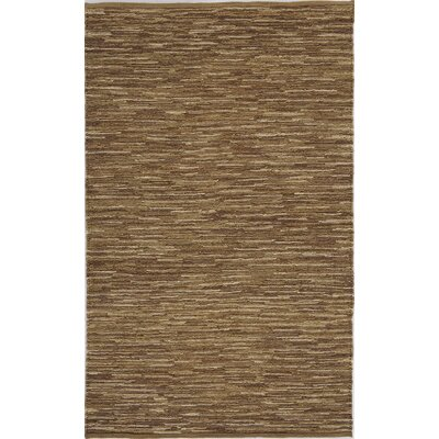 Hand-Woven Brown Area Rug Rug Size: 4 x 6