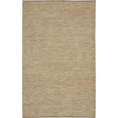 Hand-Woven Tan Area Rug Rug Size: 5 x 8